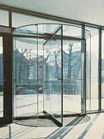 Цельностеклянные карусельные автоматические двери
