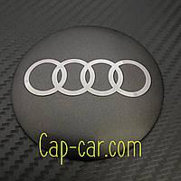 Наклейка для дисків Audi. 65мм. Метал. ( Ауді )