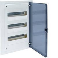 Розподільчий щит внутрішньої установки на 36 мод.(3х12), GOLF, з прозорою дверцятами, фото 1