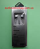 Гарнітура (навушники з мікрофоном) X3 для смартфонів, колір - сріблястий, фото 4