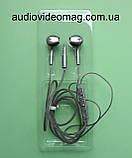 Гарнітура (навушники з мікрофоном) X3 для смартфонів, колір - сріблястий, фото 5
