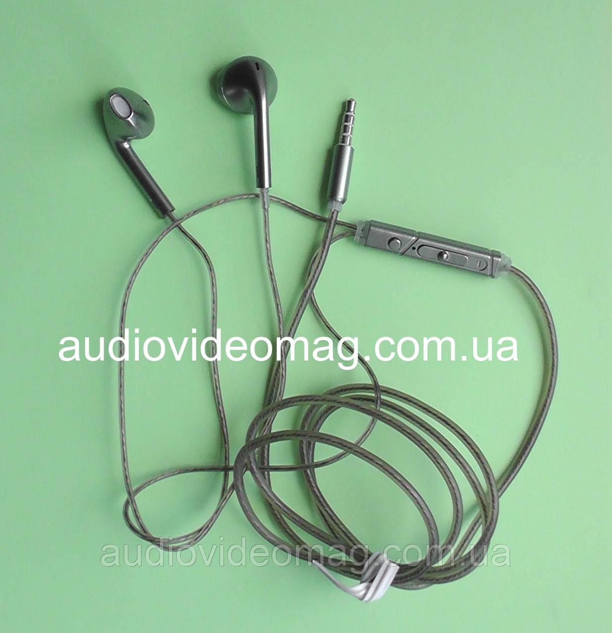 Гарнітура (навушники з мікрофоном) X3 для смартфонів, колір - сріблястий