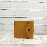 Кошелек square желтый из натуральной кожи crazy horse, фото 3