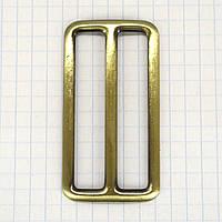 Регулятор пряжка перетяжка 50 мм антик для сумок a3619 (10 шт.)