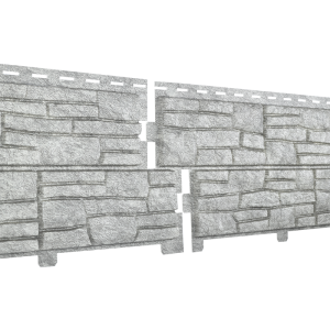 Сайдинг Ю-пласт Stone-House Cланец (светло-серый)