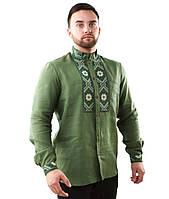 Вышитая мужская рубашка с длинными рукавами (размеры М-3XL)