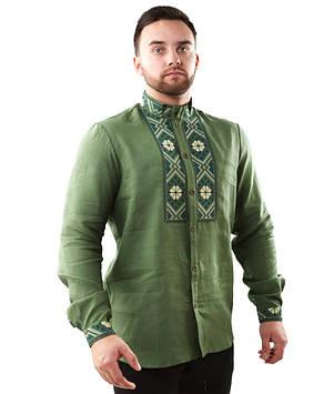 Вишита чоловіча сорочка з довгими рукавами (розміри М-3XL)