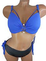 Модный купальник с портупеей Z.Five 5716-14 синий на 48 50 52 54 56 размер