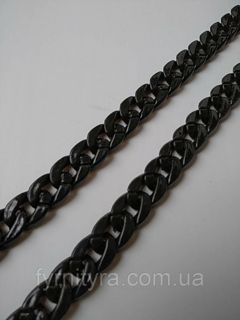Цепь декоративная пластик 18мм х 25мм чёрная