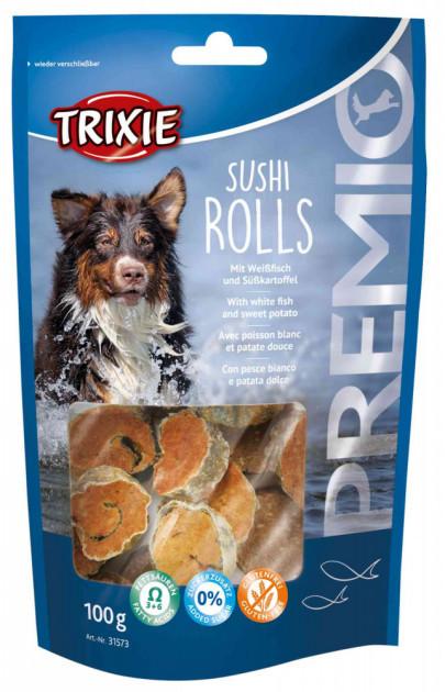 Лакомство для собак и щенков Trixie PREMIO Sushi Rolls с рыбой 100г