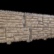 Сайдинг Ю-пласт Stone-House Cланец (бурый)