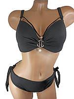Модный купальник с портупеей Z.Five 5716-14 черный на 48 50 52 54 56 размер
