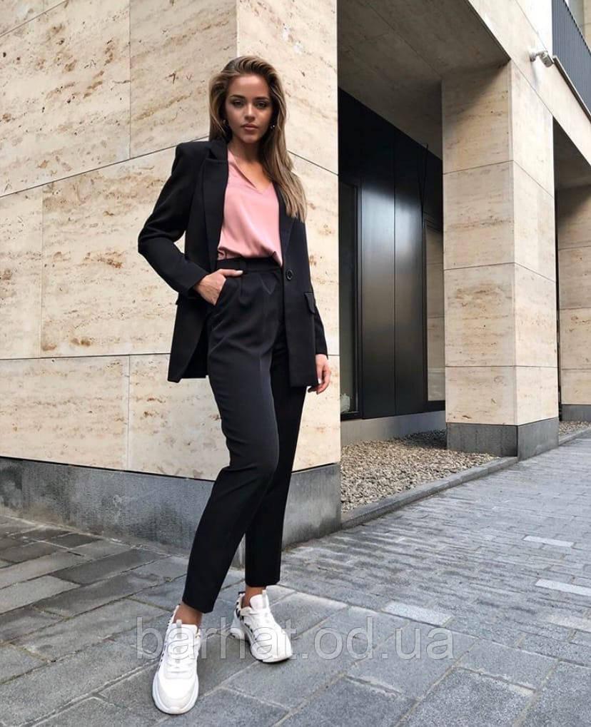 Женский черный офисный костюм отличного качества 42-44, 44-46 р.
