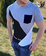 Мужская приталенная футболка