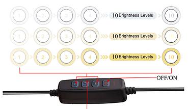 Кільцева лампа для блогерів (16 см. діаметр) + штатив(110см)+кріплення для телефону, фото 3