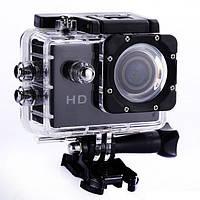 Видеокамера Экшн камера Action Camera D600 с боксом и креплениями, портативная камера, фото 1