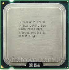 Процесор Intel Core 2 Duo E7600 2x3.06 GHz S775 бо для ПК