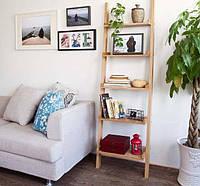 """Детский стеллаж лестница для книг и игрушек из массива дерева """"Стелла"""" от производителя"""