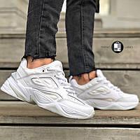 Женские кроссовки в стиле Nike Tekno Full White Белые