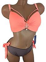 Модный купальник с портупеей Z.Five 5716-14 оранжевый на 48 50 52 54 56 размер