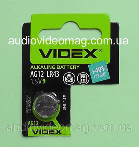 Батарейка G12 (AG12, V12GA, LR1142, LR43) Alkaline 1.5V для часов, электронной техники