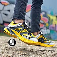Женские кроссовки в стиле Balenciaga Track Yellow\Black Жёлтые