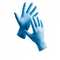 Перчатки нитриловые голубые L (100 шт.)