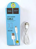 USB-MicroUSB кабель hoco X1 белый 1м