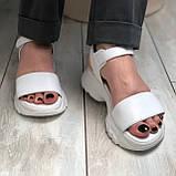 Жіночі шкіряні босоніжки білого кольору Можливий відшиваючи у інших кольорах, фото 4