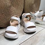 Женские кожаные босоножки белого цвета Возможен отшив в других цветах, фото 6