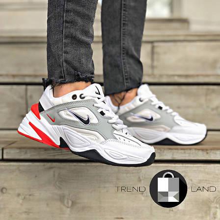 Женские кроссовки в стиле Nike M2K Tekno White\Grey\Red, фото 2