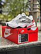 Женские кроссовки в стиле Nike M2K Tekno White\Grey\Red, фото 5