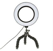 Кільцева лампа для блогерів (16 см. діаметр) +міні-студійний штативом, фото 2