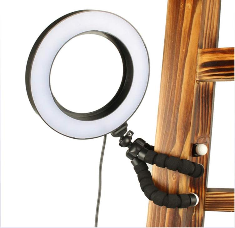 Кільцева лампа для блогерів (16 см. діаметр) +міні-студійний штативом