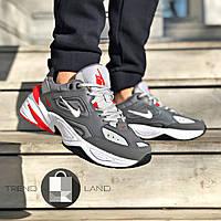 Мужские кроссовки в стиле Nike Tekno Grey\White\Red