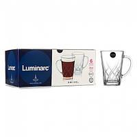 """Набір скляних прозорих чашок Luminarc """"Swivel"""" 250 мл (P9046)"""