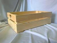 Ящик с ручками кружок 35х21х11 дерево заготовка для декора №8