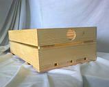Ящик с ручками кружок 35х21х11 дерево заготовка для декора №8, фото 3