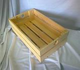 Ящик с ручками кружок 35х21х11 дерево заготовка для декора №8, фото 4