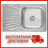 Мойка для кухни из нержавейки Imperial 7848 Decor (IMP7848DEC) прямоугольная врезная с крылом