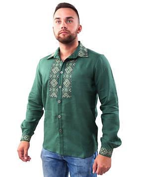 Чоловіча вишита сорочка з коміром (в розмірах M-3XL)