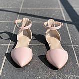 Жіночі закриті босоніжки на низькому ходу Натуральна шкіра Можливий відшиваючи у інших кольорах, фото 3
