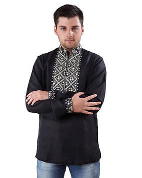 Чорна вишита сорочка чоловіча (розміри S-3XL)