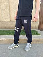 Мужские темно-синие спортивные штаны на манжете Off-White