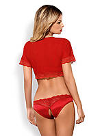 Комплект білизни - Lovica комплект Obsessive, червоний, S / M, фото 3