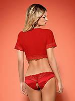 Комплект білизни - Lovica комплект Obsessive, червоний, S / M, фото 8