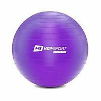 Фитбол мяч для фитнеса + насос Hop-Sport 65cm HS-R065YB фиолетовый