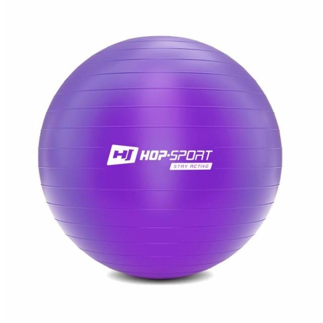 Фитбол мяч для фитнеса + насос Hop-Sport 75cm HS-R075YB фиолетовый