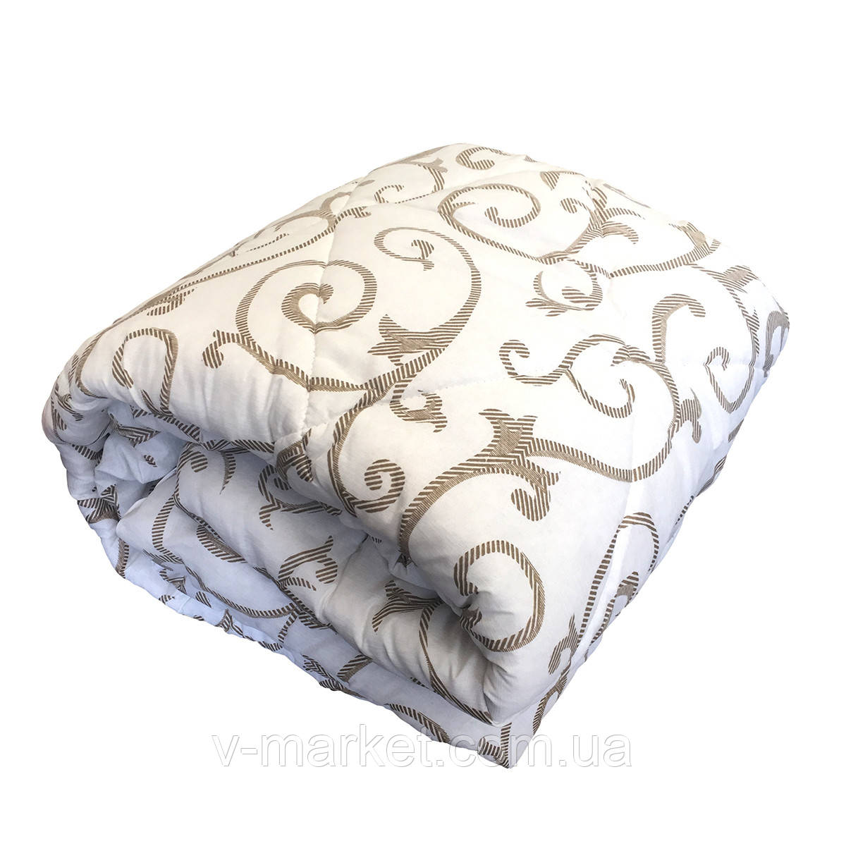 Ковдра полуторна холлофайбер СТАНДАРТ, тканина бязь (полікотон)