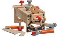 Детский Верстак Столяра с Инструментами из Прочного Дерева LL182
